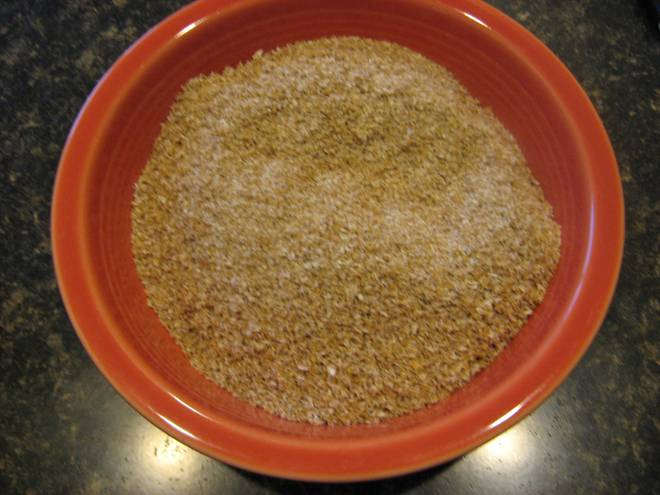 Wheat germ separated from the flour